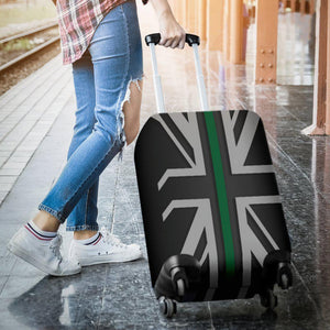 Thin Green Line Union Jack Luggage Cover GearFrost