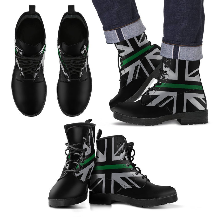 Thin Green Line Union Jack Men's Boots GearFrost