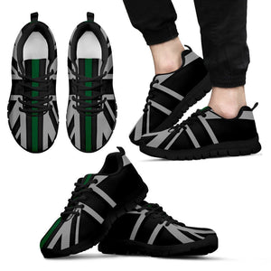 Thin Green Line Union Jack Men's Sneakers GearFrost