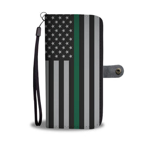 Thin Green Line Wallet Phone Case GearFrost