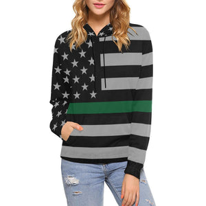 Thin Green Line Women's Pullover Hoodie GearFrost
