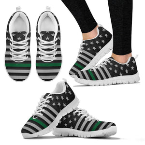 Thin Green Line Women's Sneakers GearFrost