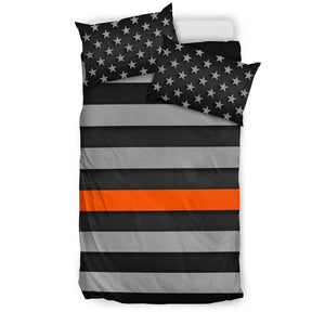 Thin Orange Line Duvet Cover Bedding Set GearFrost