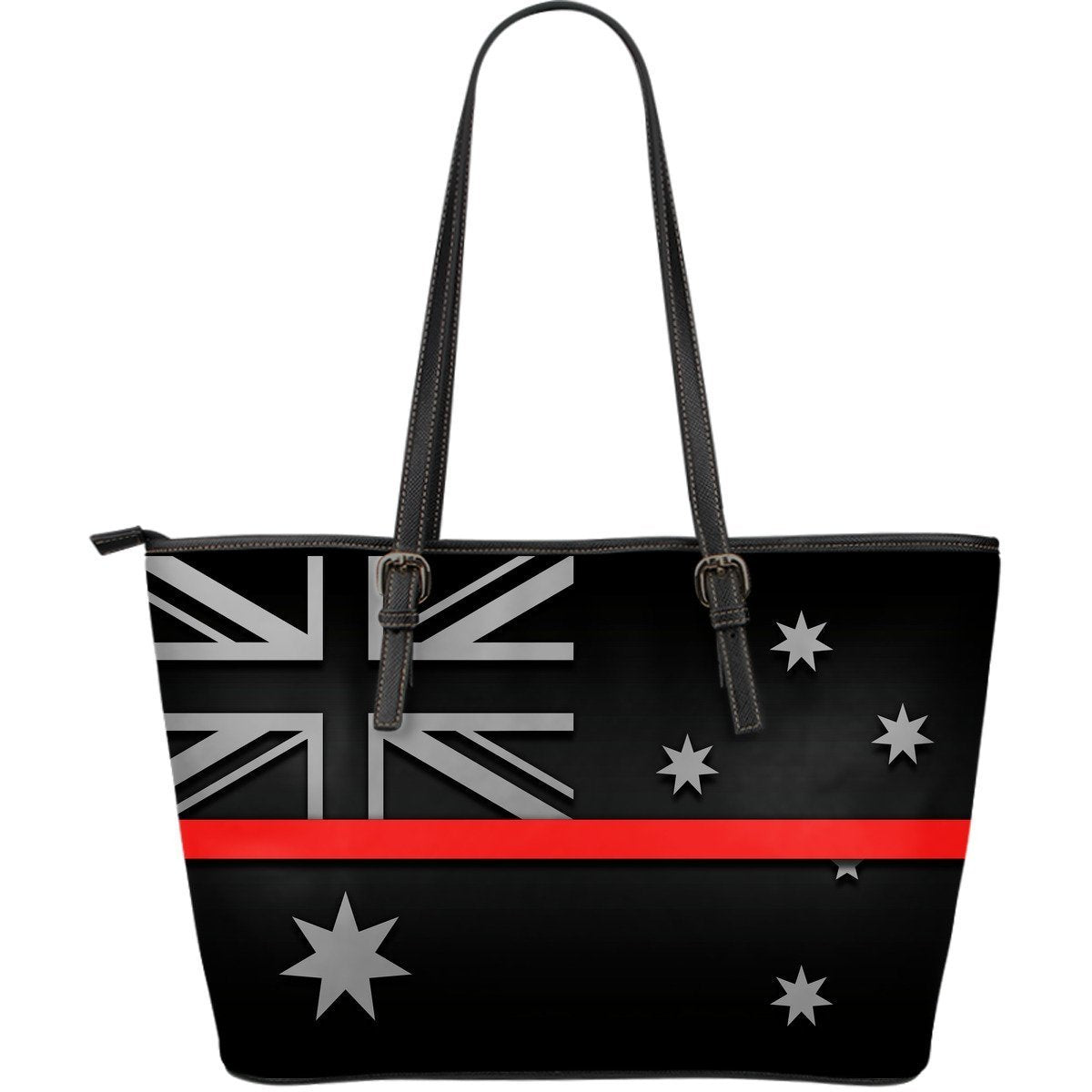 Thin Red Line Australia Leather Tote Bag GearFrost