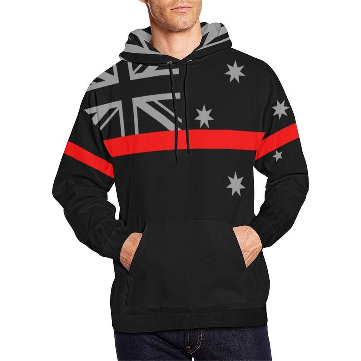 Thin Red Line Australia Men's Pullover Hoodie GearFrost
