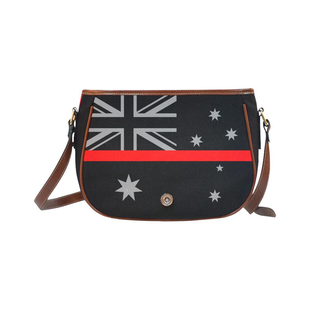 Unisex Messenger Bag Red Thin Line American Flag Crossbody Shoulder Bag