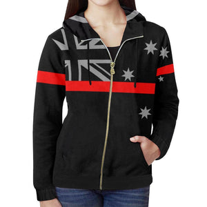 Thin Red Line Australia Women's Zip Up Hoodie GearFrost