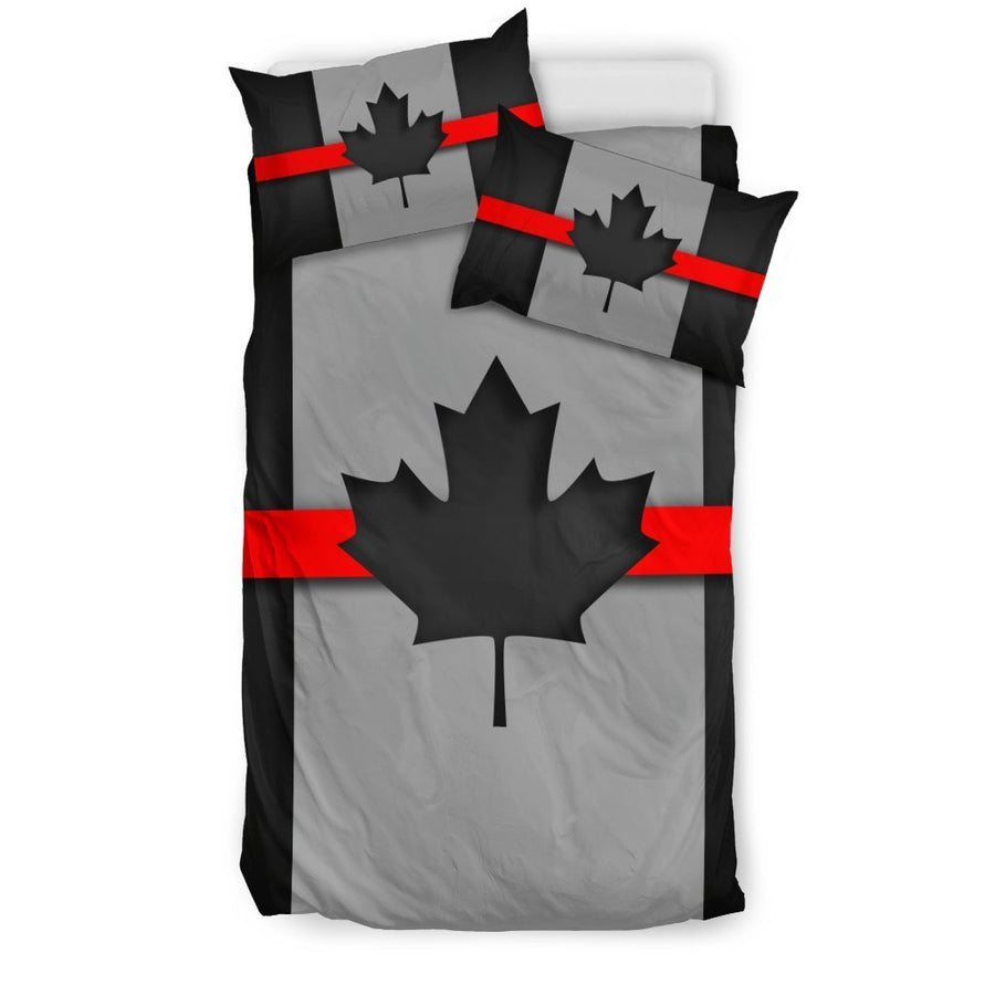 Thin Red Line Canada Duvet Cover Bedding Set GearFrost