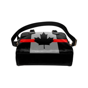 Thin Red Line Canada Leather Shoulder Handbag GearFrost