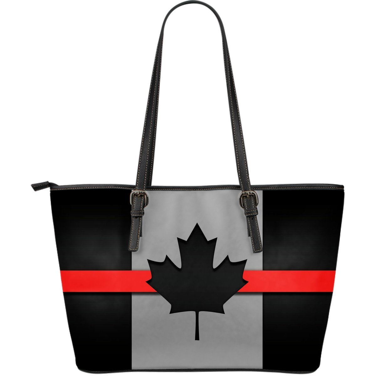 Thin Red Line Canada Leather Tote Bag GearFrost