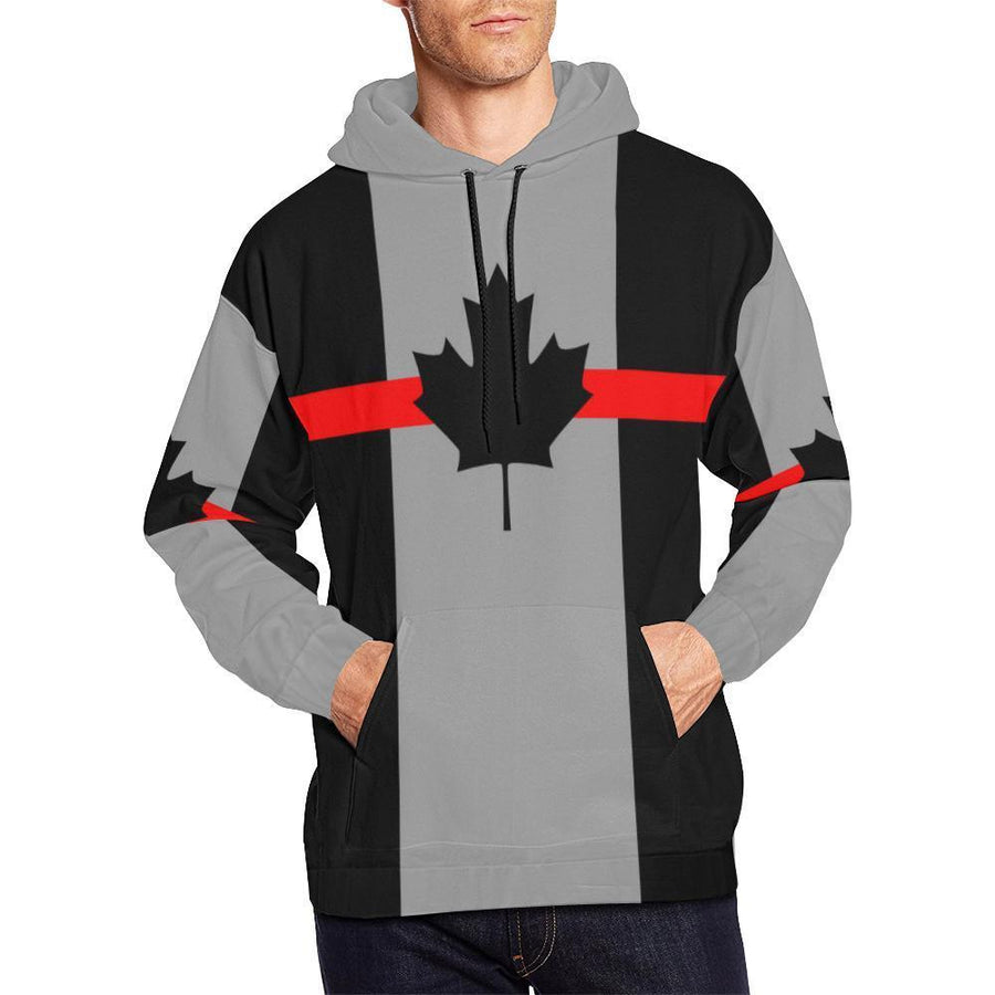 Thin Red Line Canada Men's Pullover Hoodie GearFrost