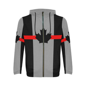 Thin Red Line Canada Men's Zip Up Hoodie GearFrost