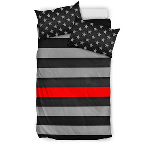 Thin Red Line Duvet Cover Bedding Set GearFrost