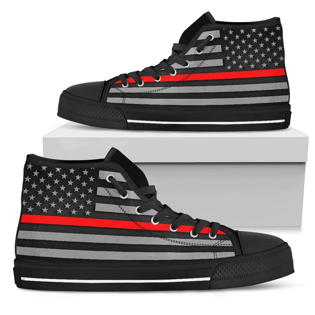 Thin Red Line Men's High Top Shoes GearFrost