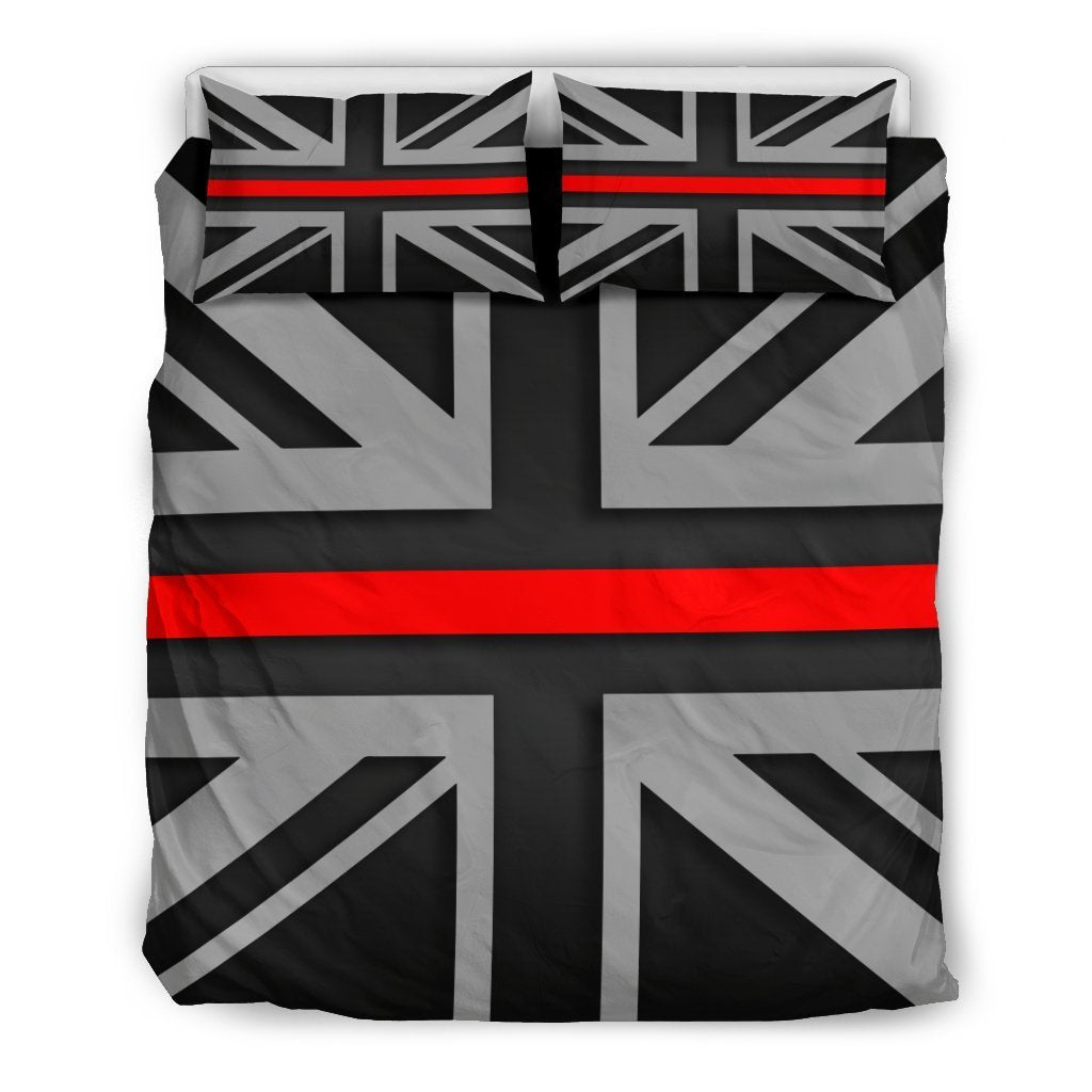 Thin Red Line Union Jack Duvet Cover Bedding Set GearFrost