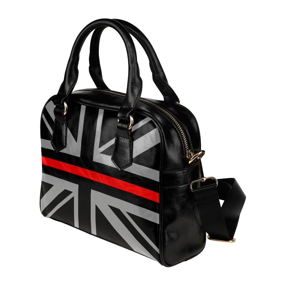 Thin Red Line Union Jack Leather Shoulder Handbag GearFrost