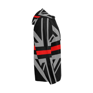 Thin Red Line Union Jack Men's Zip Up Hoodie GearFrost