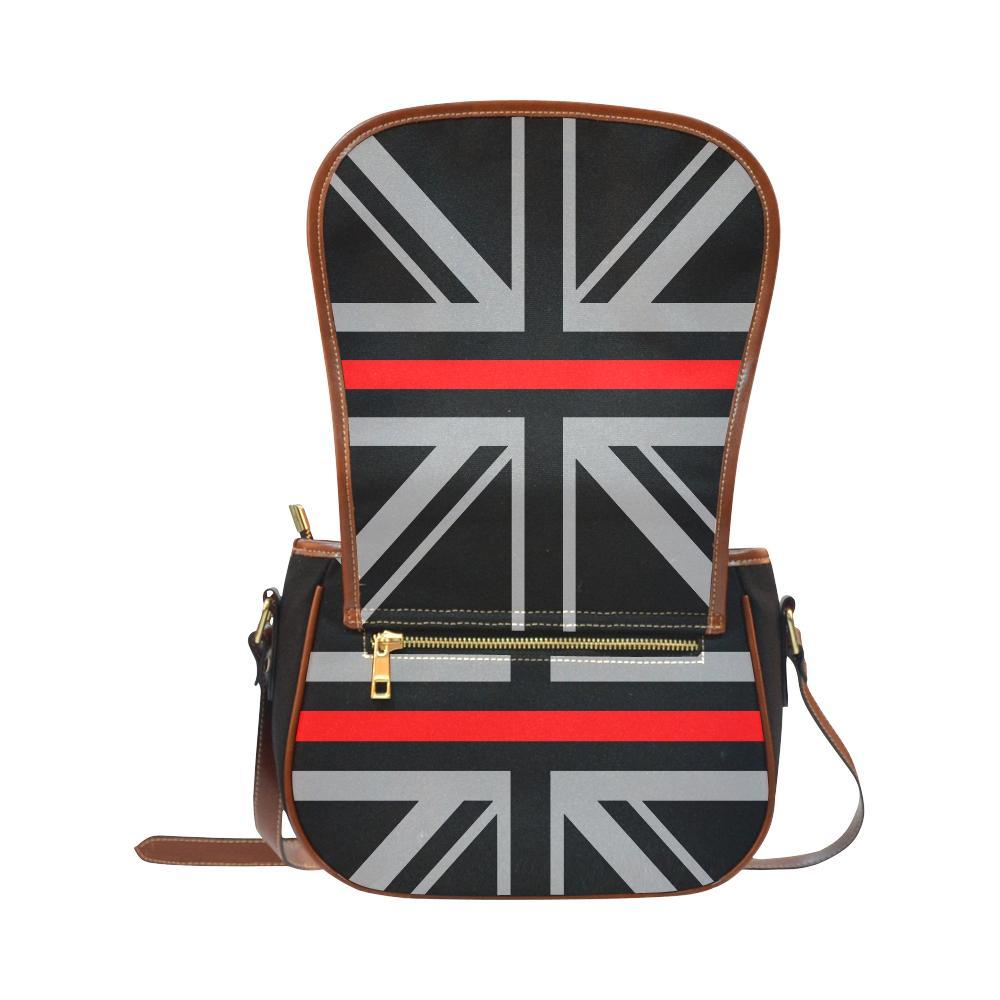 Thin Red Line Union Jack Saddle Bag Crossbody Purse GearFrost