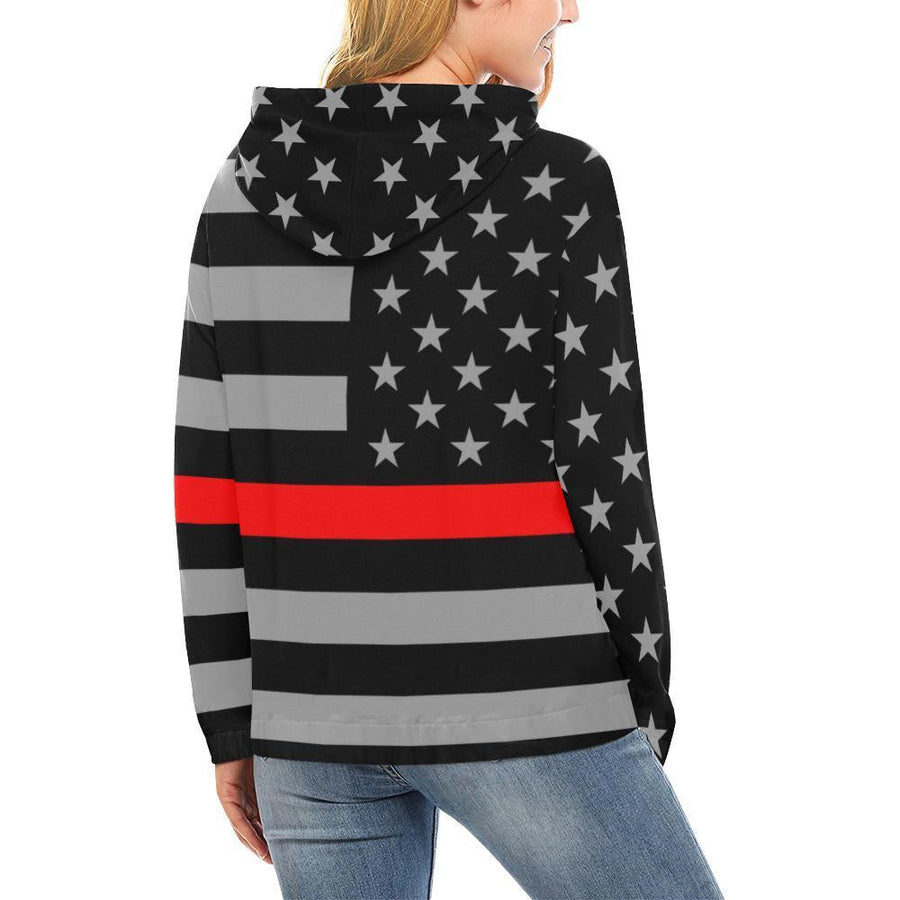 Thin Red Line Women's Pullover Hoodie GearFrost