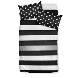 Thin Silver Line Duvet Cover Bedding Set GearFrost