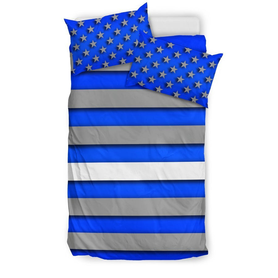 Thin White Line Duvet Cover Bedding Set GearFrost