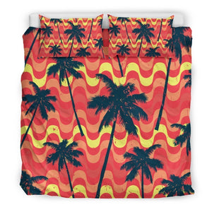 Trippy Palm Tree Pattern Print Duvet Cover Bedding Set GearFrost