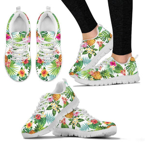 Tropical Aloha Pineapple Pattern Print Women's Sneakers GearFrost