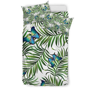 Tropical Butterfly Pattern Print Duvet Cover Bedding Set GearFrost