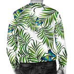 Tropical Butterfly Pattern Print Men's Crewneck Sweatshirt GearFrost