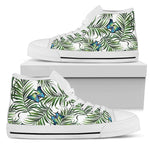 Tropical Butterfly Pattern Print Men's High Top Shoes GearFrost