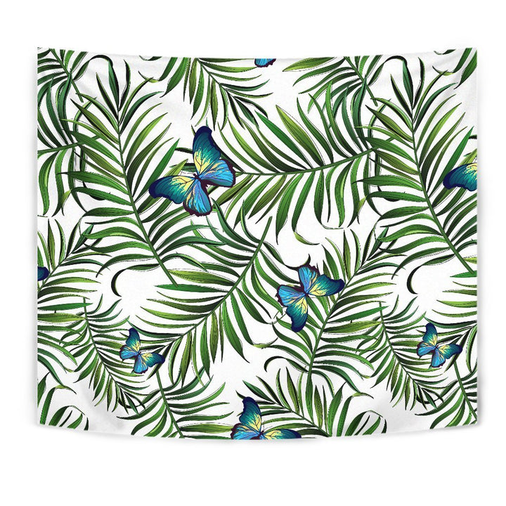 Tropical Butterfly Pattern Print Wall Tapestry GearFrost