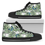 Tropical Butterfly Pattern Print Women's High Top Shoes GearFrost
