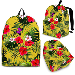 Tropical Exotic Hawaiian Pattern Print Backpack GearFrost