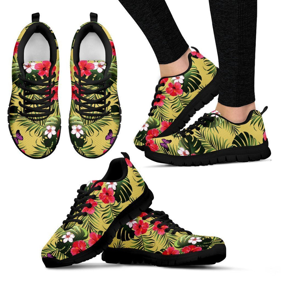 Tropical Exotic Hawaiian Pattern Print Women's Sneakers GearFrost