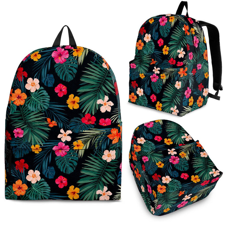Tropical Flowers Hawaii Pattern Print Backpack GearFrost