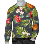 Tropical Hawaii Pineapple Pattern Print Men's Crewneck Sweatshirt GearFrost