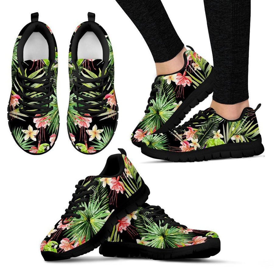 Tropical Hawaiian Parrot Pattern Print Women's Sneakers GearFrost