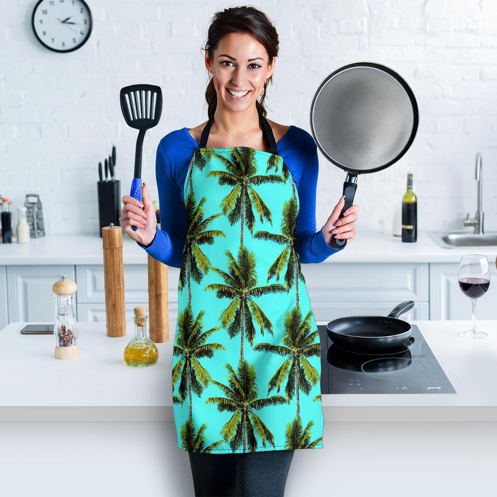 Tropical Palm Tree Pattern Print Women's Apron GearFrost