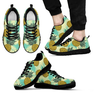 Tropical Vintage Pineapple Pattern Print Men's Sneakers GearFrost