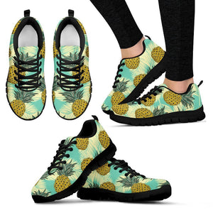 Tropical Vintage Pineapple Pattern Print Women's Sneakers GearFrost
