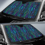 Turquoise Dragon Scales Pattern Print Car Sun Shade GearFrost