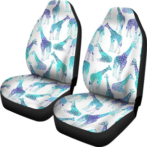 Wondrous Turquoise Giraffe Pattern Print Universal Fit Car Seat Covers Alphanode Cool Chair Designs And Ideas Alphanodeonline