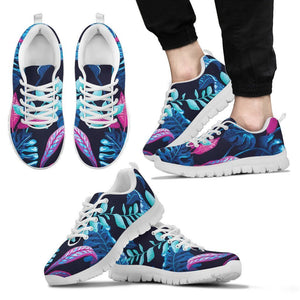 Turquoise Hawaii Tropical Pattern Print Men's Sneakers GearFrost