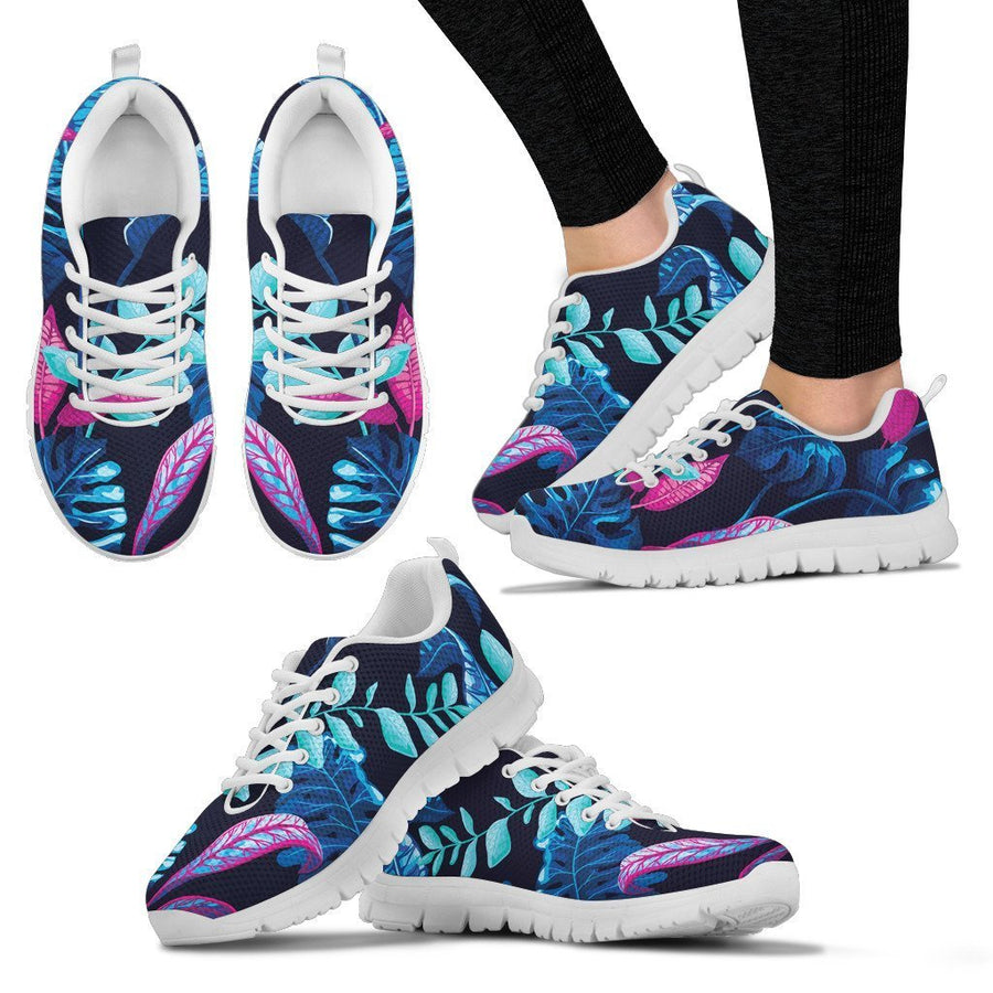 Turquoise Hawaii Tropical Pattern Print Women's Sneakers GearFrost