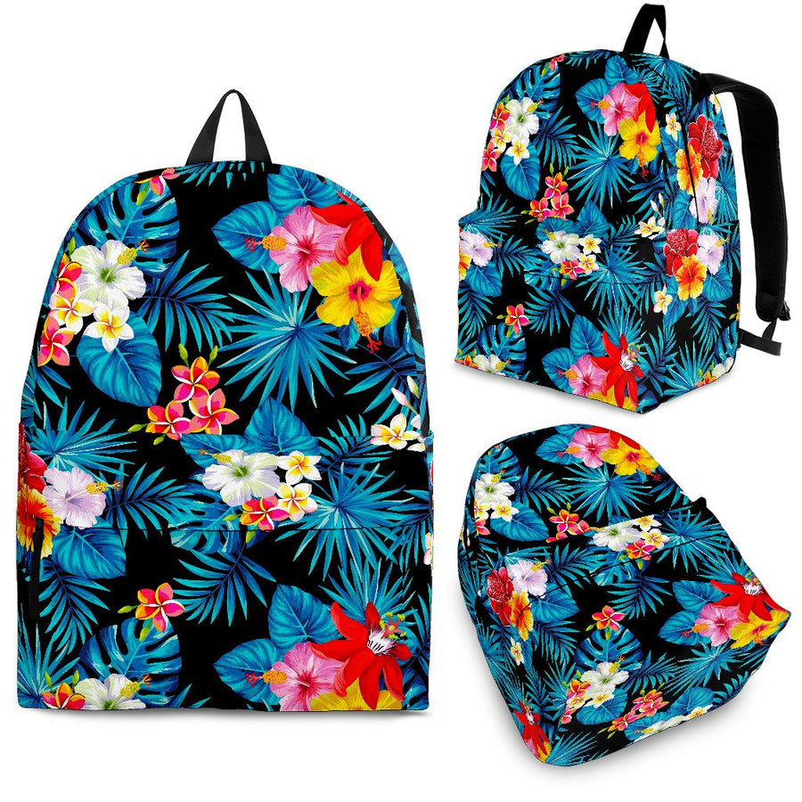Turquoise Tropical Hawaii Pattern Print Backpack GearFrost