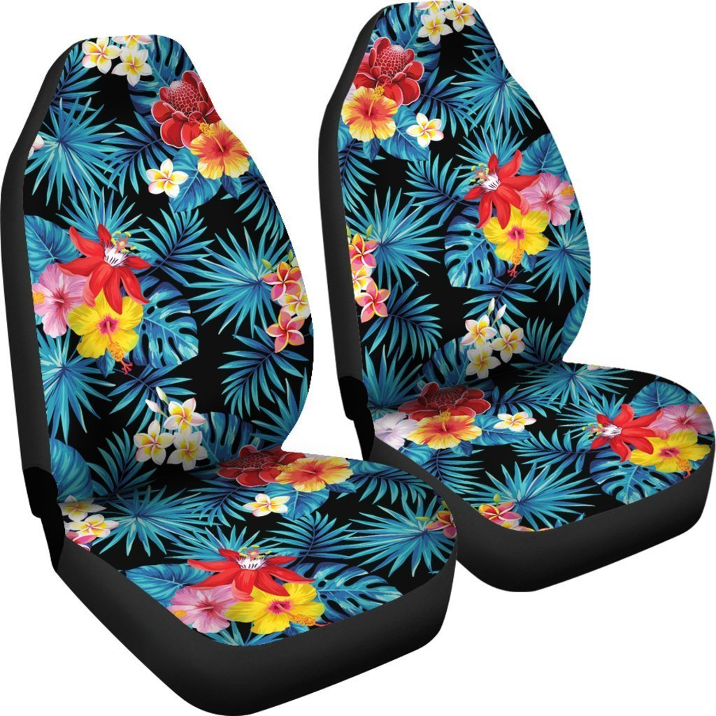 Turquoise Tropical Hawaii Pattern Print Universal Fit Car Seat