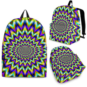 Twinkle Psychedelic Optical Illusion Backpack GearFrost