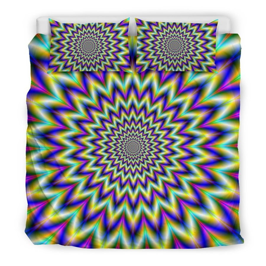 Twinkle Psychedelic Optical Illusion Duvet Cover Bedding Set GearFrost