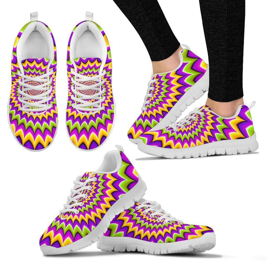 Twisted Colors Moving Optical Illusion Women's Sneakers GearFrost