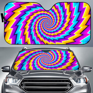 Twisted Spiral Moving Optical Illusion Car Sun Shade GearFrost